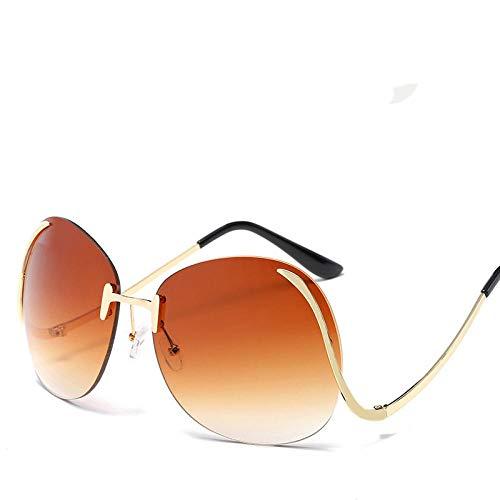 chuanglanja Gafas De Sol Wayfarer Gafas De Sol De Gran Tamaño Para Mujer Gafas Con Tinte Degradado Pierna Doblada Para Mujer/Hombre Gafas De Sol Al Aire Libre UV400-Color-T