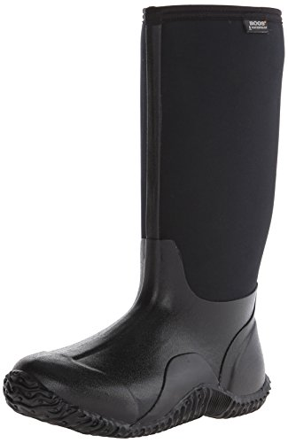 Bogs Women's Classic High Waterproof Insulated Rubber Neoprene Snow Rain Boot, Black, 9 M US