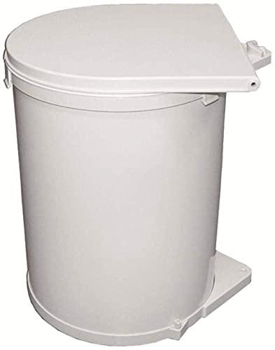 Bote de basura, Bote de basura para armario de cocina ambiental, 30l Cubo de basura empotrado de gran capacidad Cubos de basura abiertos giratorios Cubo de artículos diversos (Color, Blanco), Blanco,