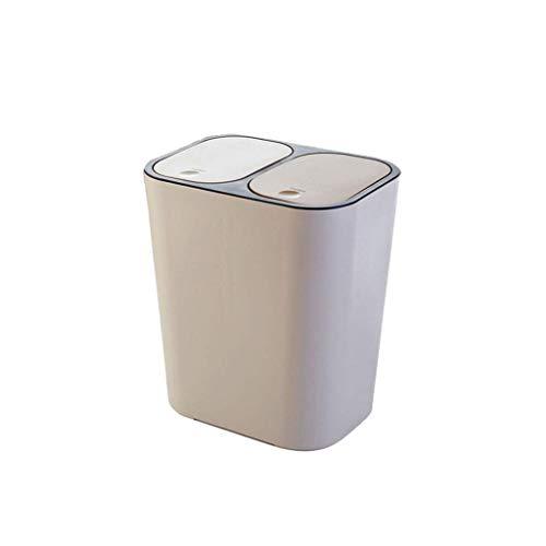 LZZB Mülleimer Combo Set Abfall Papierkorb Kreative Haushaltsabfall Vorratsbehälter Küche Badezimmer Wohnzimmer Schlafzimmer Papier Papier Eimer mit Deckel Papierkorb Papierkorb