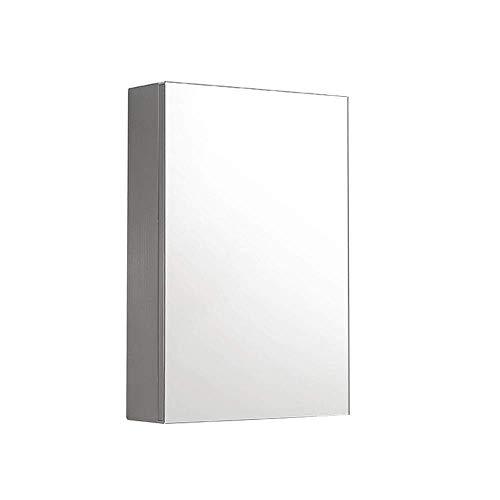 Modernes minimalistisches Badezimmer doppelter Dicker Spiegelschrank aus Edelstahl Wand-Toilettenschrank mit Kosmetikspiegel