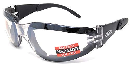 Motorradbrille Fahrradbrille, gepolstert, Nachtfahrbrille, inkl. kostenlosem Mikrofaser-Beutel