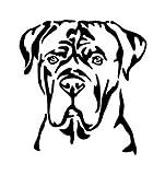 Amberdog ATK0244 - Adesivo per auto con motivo testa di cane