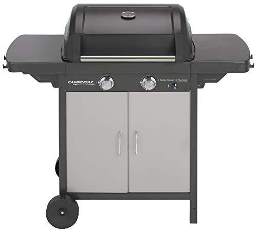 Campingaz Barbecue à Gaz 2 Series Classic LX Plus Vario, 2 Brûleurs, Puissance 7.5kW, Grille et Plancha en Acier Double Emaillage, 2 Tablettes Latérales