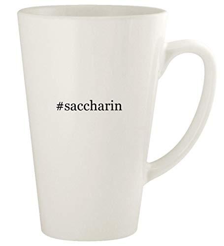 #saccharin - 17oz Hashtag Ceramic Latte Coffee Mug Cup, White