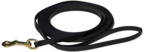 Signature K9 Biothane Long Line, 15-Feet x 3/8-Inch, Black