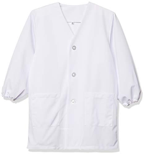 [フジヨットガクセイフク] 給食着 白無地 ノーアイロン 抗ウイルス加工 消臭機能 前ボタン 白衣型 TQ10L キッズ 白 150