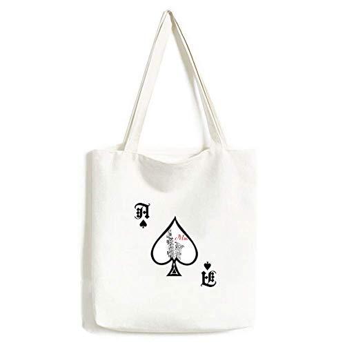 Saxophon Klassisches Musikhören Illustrate Handtasche Craft Poker Spaten waschbare Tasche