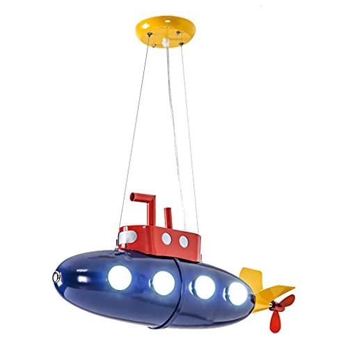 Araña Submarina Habitación Infantil, Dormitorio para Niños, Jardín De Infantes, Iluminación para Parques De Atracciones Decoración Creativa De Estilo Industrial (Color : Blue, Size : 62 * 28cm)