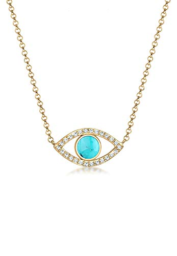 Elli Halskette Evil Eye Howlith Swarovski® Kristalle 925 Silber