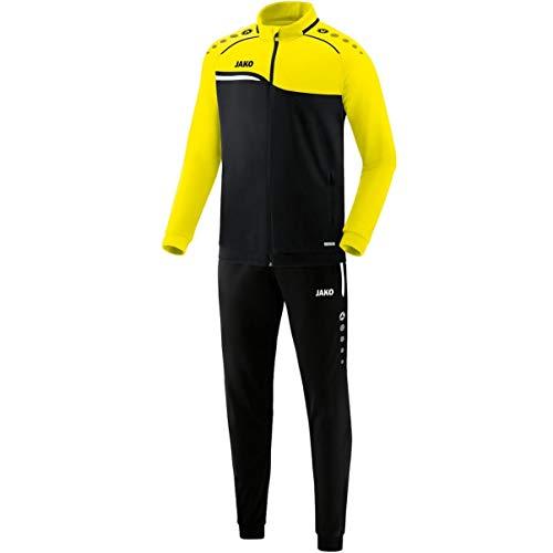 JAKO Competition 2.0 - Tuta da uomo in poliestere, nero/giallo, 4XL