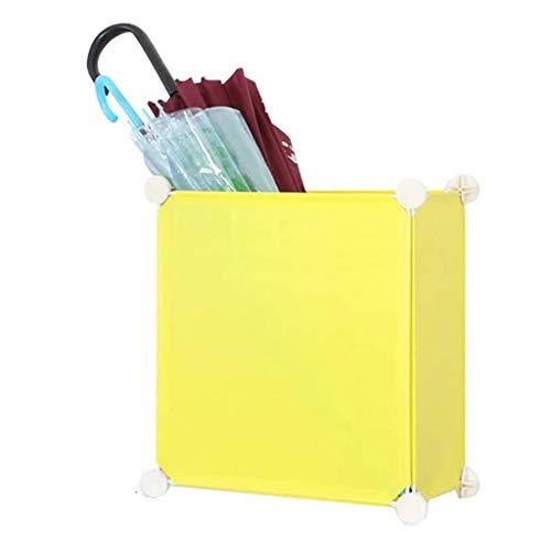 SHYPT Schirmständer Gestell, Innenschirmständer Halter for Moderne Entryway Dekor, Mode Regenschirm Organizer for Heim (Color : Yellow)