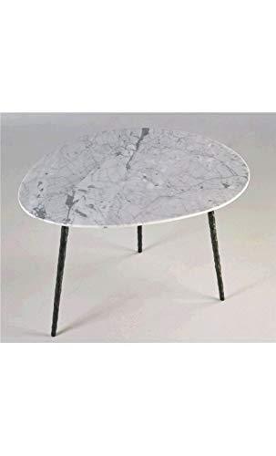 CAMINO A CASA - Table Basse Plateau Ovale marbre Cotton 63 cm