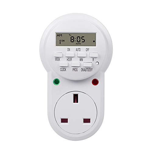 HBN Weekly Programmable Electronic Digital Mains Plug-in Timer Socket with...