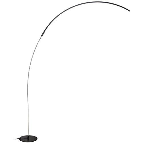WAYKING Morderne Bogenlampe Minimalistische 15W LED Energieeffiziente Stehlampe mit Fußdimmer 3 Stufen Helligkeiteinstellbar, Dimmbar, geeignet für Wohnzimmer, Schlafzimmer und Studierziemmer -Schwarz