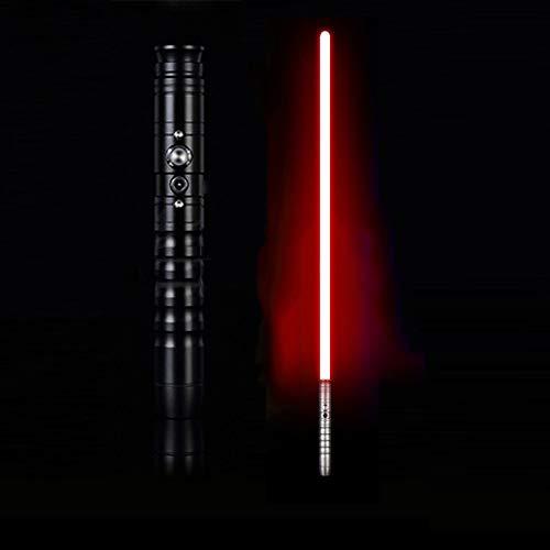 JLKJBH Lichtschwert - mit Sound-Effekt, leuchtendes einfarbiges Schwert (schwarzer Griff)
