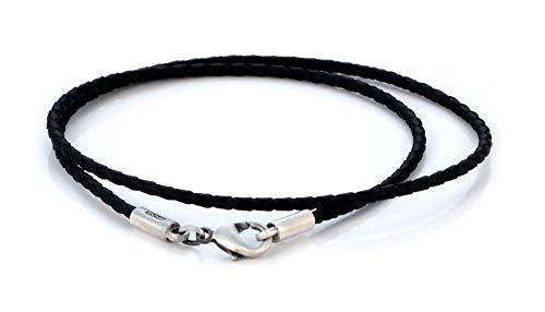 Bico Collar Trenzado Negro de 2mm (CL12 Negro) Skate Tribal Joyeria
