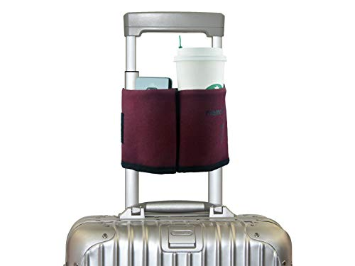 riemot Luggage Travel Cup Holder Free Hand Drink Caddy - Hold Two Coffee Mugs - Fits Roll on...