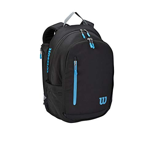 Wilson Sporting Goods Tennis Bag, Black/Blue/Silver, OSFA