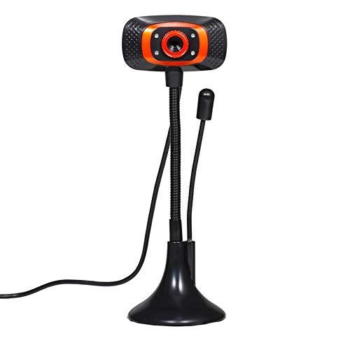 Dfghbn Cámara De Ordenador HD Cámara Web De La Cámara Web De La Cámara Web USB con Un Complemento Y Juego De La Lámpara De Suplemento De Luz De Micrófono (Color : Black, Size : One Size)