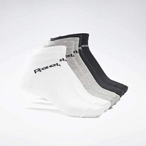 Reebok Act Core Inside Sock 6P Chaussettes Mixte, Blanc, Noir (Brgrin/Blanco/Negro), M