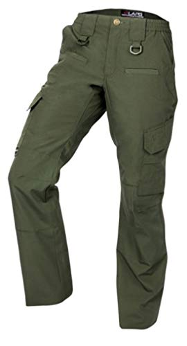 LA Police Gear Women's Operator Pant with 8 Pockets and Elastic Waist - OD Green-16-REG