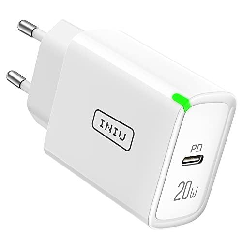 INIU Cargador USB C, 20W Cargador Móvil USB C Power Delivery 3.0 Carga Rápida y USB QC 3.0 para iPhone 12 Pro MAX 11 Samsung S20 Note 20 iPad Huawei Xiaomi y Más