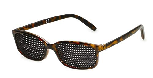 Gafas estenopeicas 415-IMP - plaza Rejilla - marrón mármol - Incl. Accesorio
