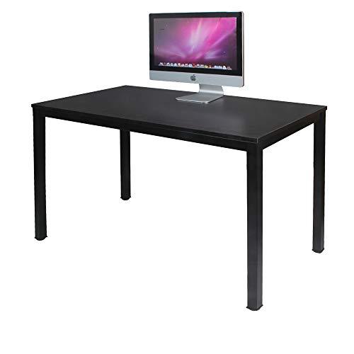Need Schreibtisch Computertisch 120x60cm PC Tisch Bürotisch Arbeitstisch Esstisch für Home Office, Schwarz AC3CB-120-N