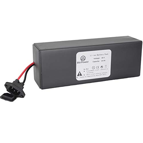 BtrPower 48V Ebike Battery,10AH 15AH 30AH Lithium ion Battery Pack with 5A Charger and 50A BMS for Electric Bike,Scooter,Motorcycle,350W 750W 1500W 2000W Motor