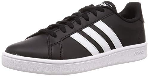 adidas Herren Grand Court Base Tennisschuh, Negro/Blanco, 9 UK