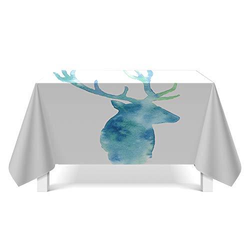 DREAMING-Touhua Elch Kunst Tischdecke Haushalt Tischdecke Tv Schrank Couchtisch Tuch Runde Tisch Tischset 85cm*85cm