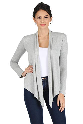 Grey Cardigan Women Cardigan Sweater for Women Reg and Plus Size Cardigan (Size Large, Heather Grey)