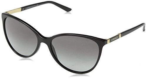 Versace Damen VE4260 Sonnenbrille, Schwarz (Black GB1/11), One size (Herstellergröße: 58)
