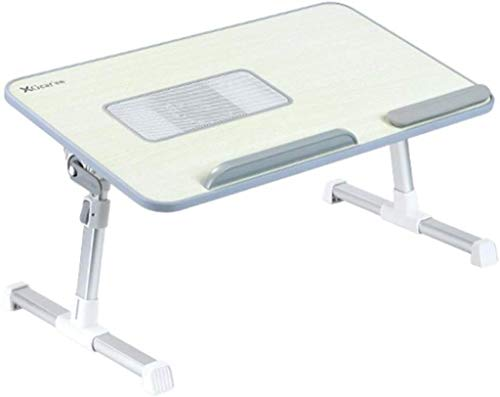 NYDZ Pequeño Plegable Mesa Plegable Lateral Ascensor Estudiante compartida portátil Cama Escritura USB Ventilador de refrigeración turística