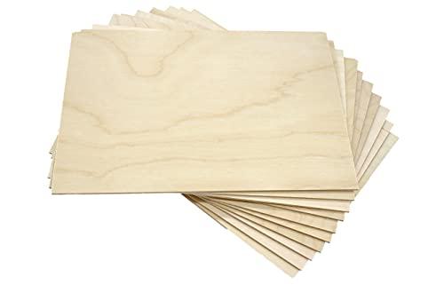 Bouleau A4 x 10 cm en bois composite – Dimensions 30,5 cm x 21 cm x 3 mm (+/-) – Planches brutes DIY pour routeur, modélisme, peinture, découpe au laser, dessin, découpe et autres travaux (10, A4)