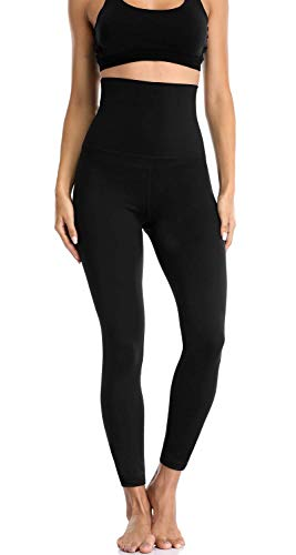 Charmo Sport Leggings Damen Sporthose Tights Hohe Taille Trainingshose Stretch Yogahose Schwarz M