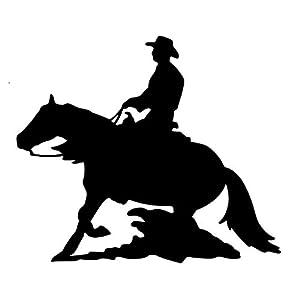 Aufkleber Westernpferd Reining