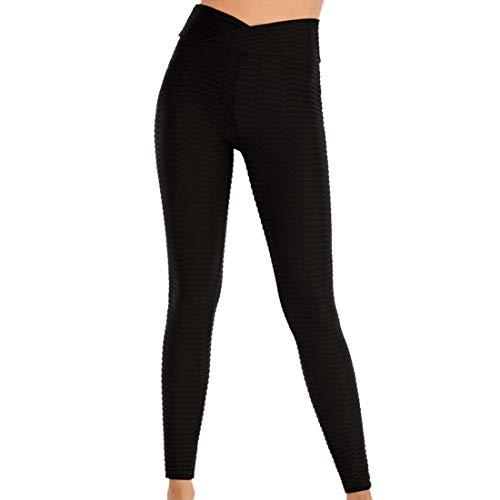 Pantaloni Yoga a Vita Alta da Donna Pantaloni Yoga con Rete a Bolle Pantaloni Fitness Lunghi Pantaloni Sportivi Elasticizzati Moda Sport Traspirante Asciugatura Rapida Pantaloni Allenamento M