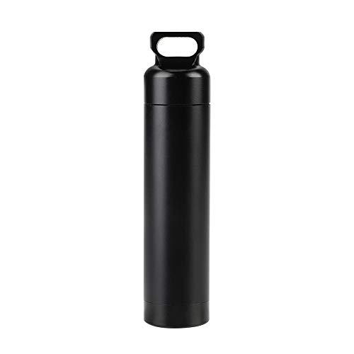 Nicoone Contenedor de supervivencia de aleación de aluminio impermeable aleación de aluminio píldora botella medicina contenedor titular para supervivencia al aire libre