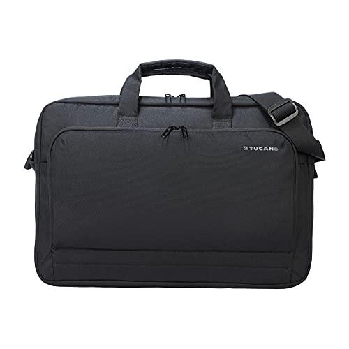 """Tucano Star - Borsa per PC Portatile 17"""" Compatibile con MacBook PRO 16"""", con Tracolla, aggancio Trolley, per Lavoro Ufficio università Viaggi"""