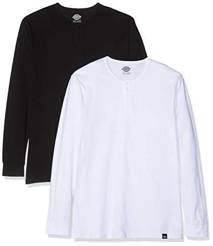 Dickies Seibert, Lot de 2 , T-Shirt Manches Longues Homme, Noir et Blanc(Assorted),X-Small (Taille fabricant: XSmal)