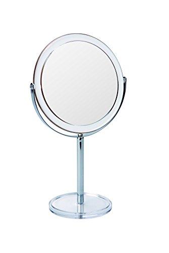 Gerson Miroir sur Pied Transparent/Chromé Grossissant x 7 Diamètre 17 cm Haut 32 cm