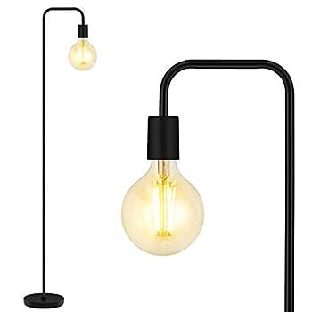 Floor Lamp Industrial Floor Lamp 63 Inch Standing Lamp E26 Socket On/Off Footswitch Whole Metal ETL Listed Modern Floor Lamp for Bedroom Living Room Minimalist Vintage Mid Century