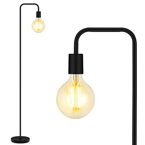 Floor Lamp, Industrial Floor Lamp, 63 Inch Standing Lamp, E26 Socket, On/Off Footswitch, Whole Metal, ETL Listed, Modern Floor Lamp for Bedroom, Living Room, Minimalist, Vintage, Mid Century
