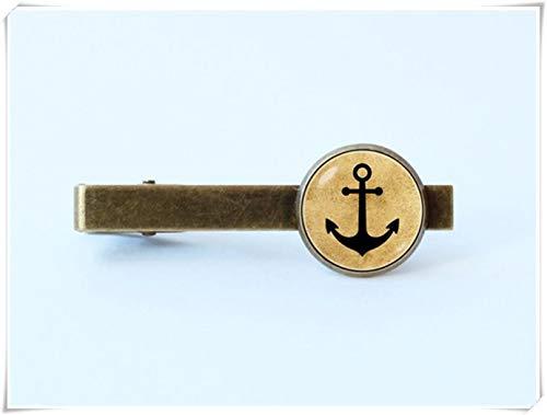 We are Forever Family Anchor Clip para corbata, Ancla de corbata, clip de corbata náutico, joyería de ancla, regalo para marido, regalo para padrinos, joyería náutica, azul marino marinero océano