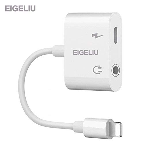 EIGELIU Headphone Jack Adapter Cable Car Charger Dongle AUX Audio Jack Earphone Extender Jack Stereo Cable