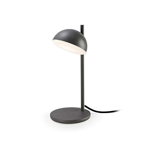 Lampe Talk, aluminium et verre, gris urbain
