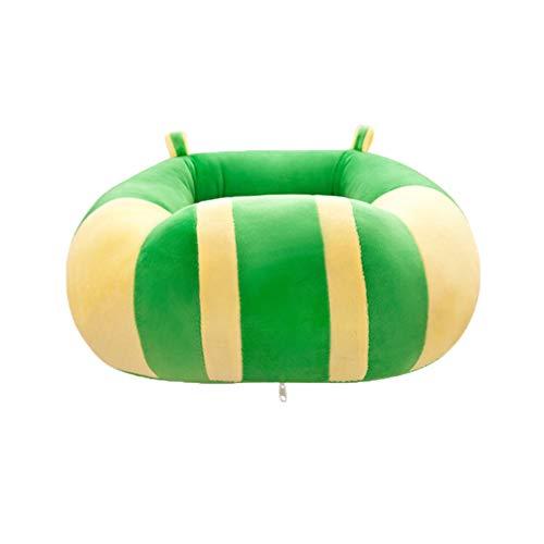 NUOBESTY Sofá de pelúcia infantil de desenho animado cadeira de bebê assento de sofá infantil pufe poltrona para sala de jogos quarto (verde)