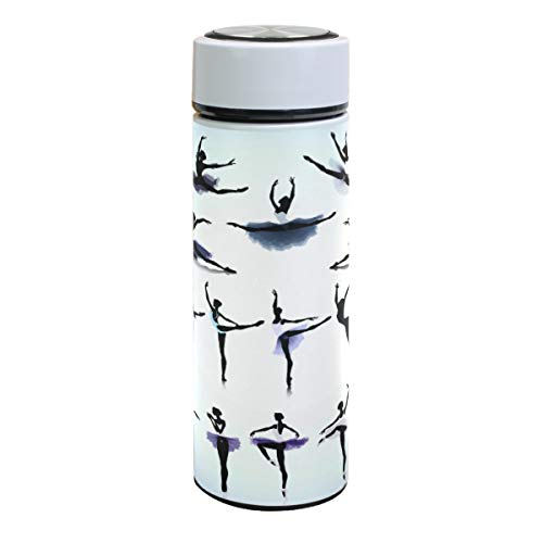 Ballerina - Botella de agua de acero inoxidable con aislamiento al vacío para bailarinas de ballet, termos de doble pared, tazas de café, deportes, viajes, senderismo, para bebidas frías y calientes